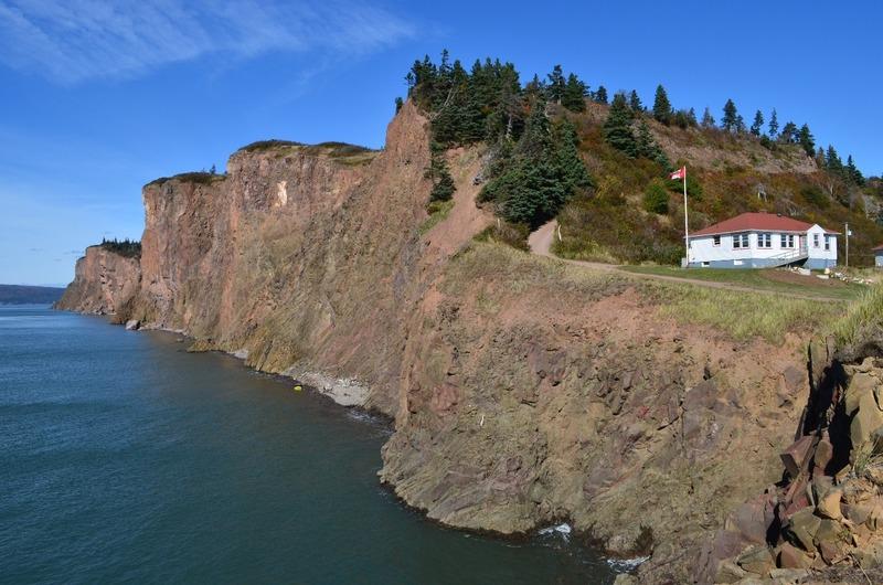 Cliffs of copper at Cape d'Or
