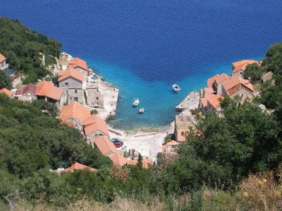 Lastovo port in Croatia