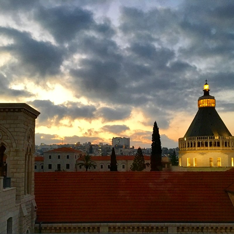 Sunrise from my window at Sisters of Nazareth convent