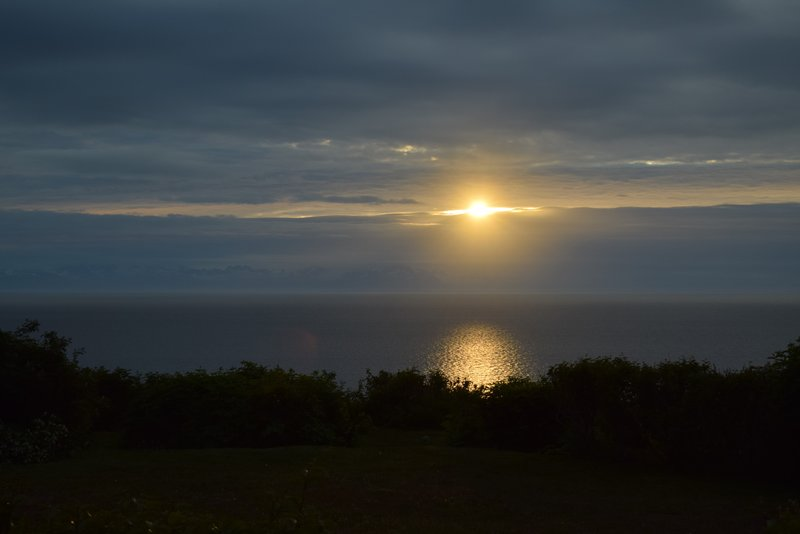 Sunset around 12am