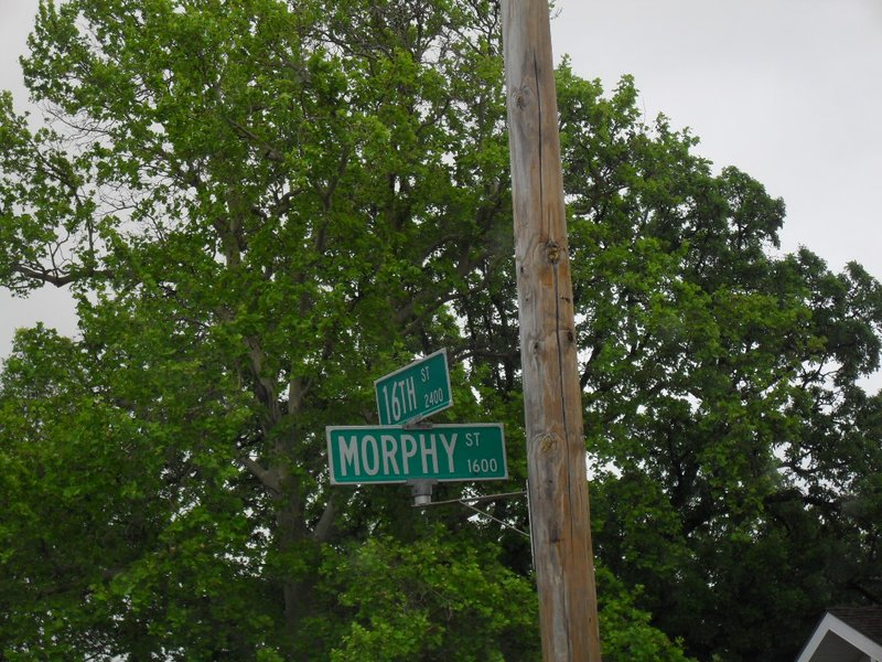 Morphy Street sign in Great Bend, KS, May 11, 2017