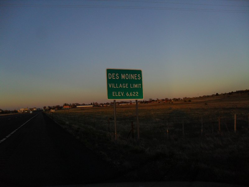The western village-limit sign for DM, NM, May 12, 2017