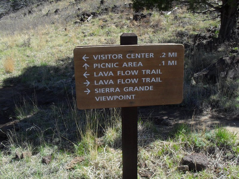 A sign on the Lava Flow Trail at CVNM