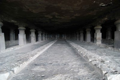 Huge cave hall