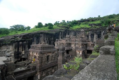 Overlook of Kailasa temple