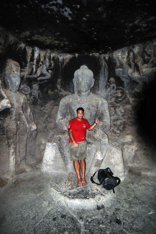 Alan with Buddha