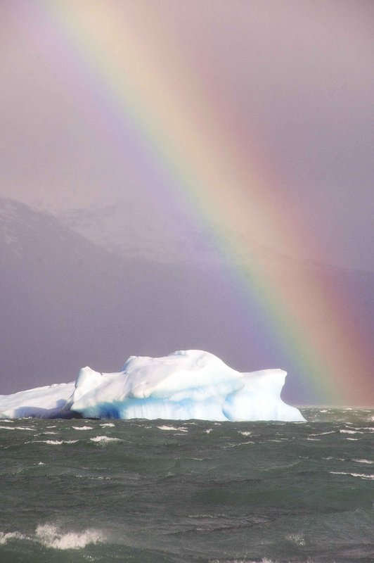 Iceberg with rainbow