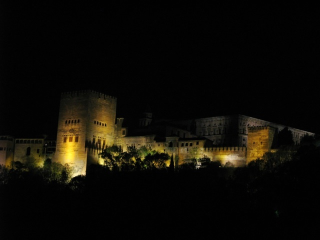 Floodlit Alhambra
