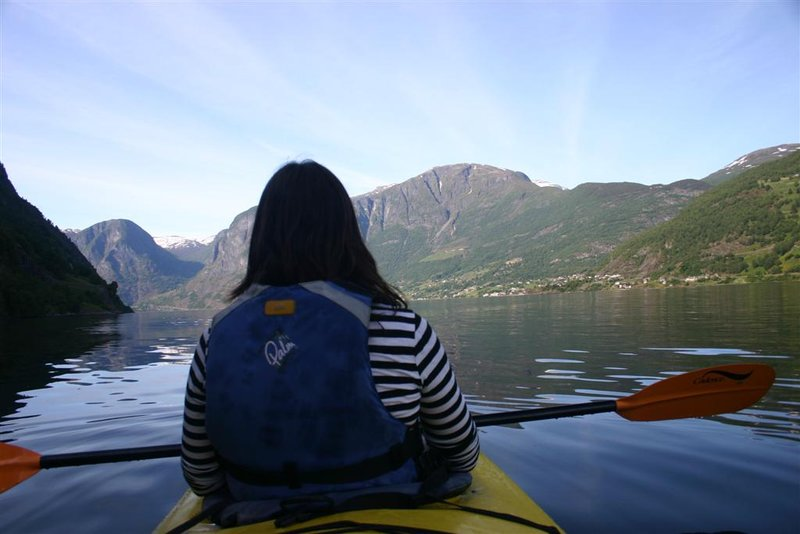 Kayaking on the fjord