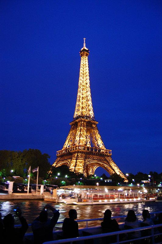 Night Boat Ride: Eiffel Lighted