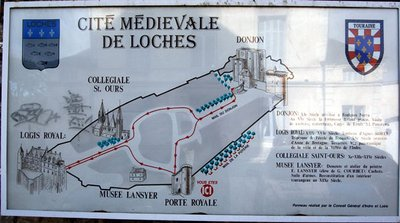 Loches Medieval Map
