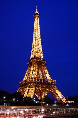 Night Boat Ride: Eiffel Lighted 2