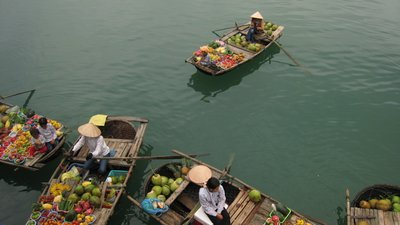 Produce Hawkers on Halong Bay