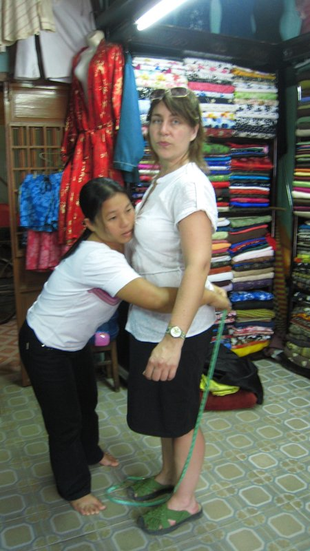 Christina gets fitted in Hoi An