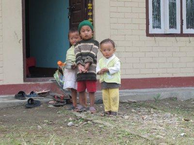 Local children, Chitwan