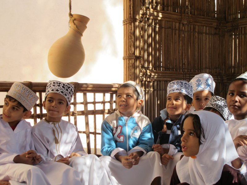 Children in Nizwa, Oman