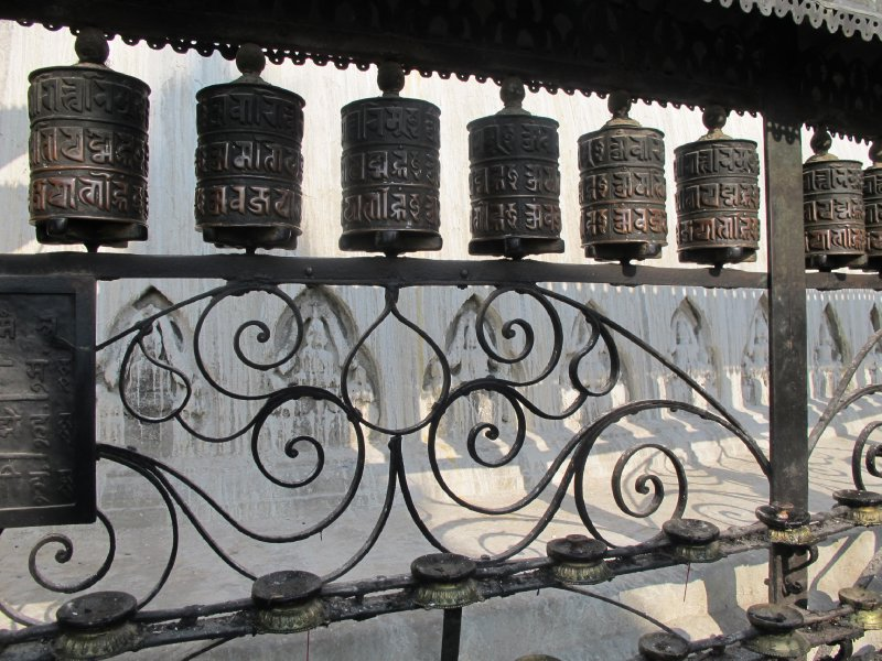 Prayer wheels, Kathmandu