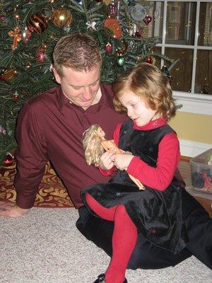 Eleni & Daddy; Christmas '07