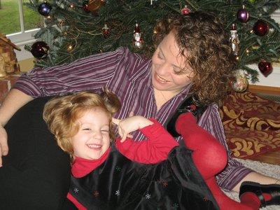 Eleni & Mummy; Christmas '07