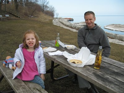 Meat pie by the lake