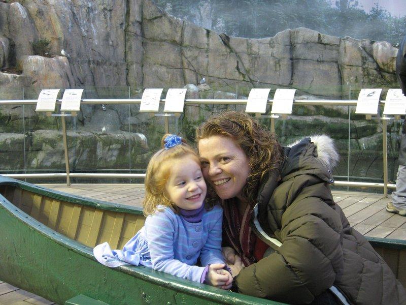Mummy, Eleni & a canoe