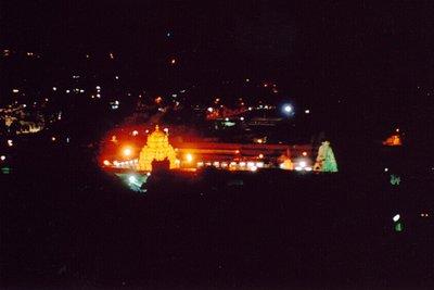 Tirupati Temple by night