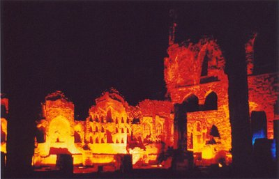 Golkonda Fort by night.