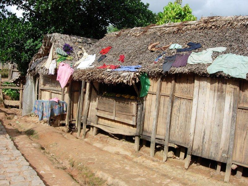 Ankaramalaz-klesvask på hustaket