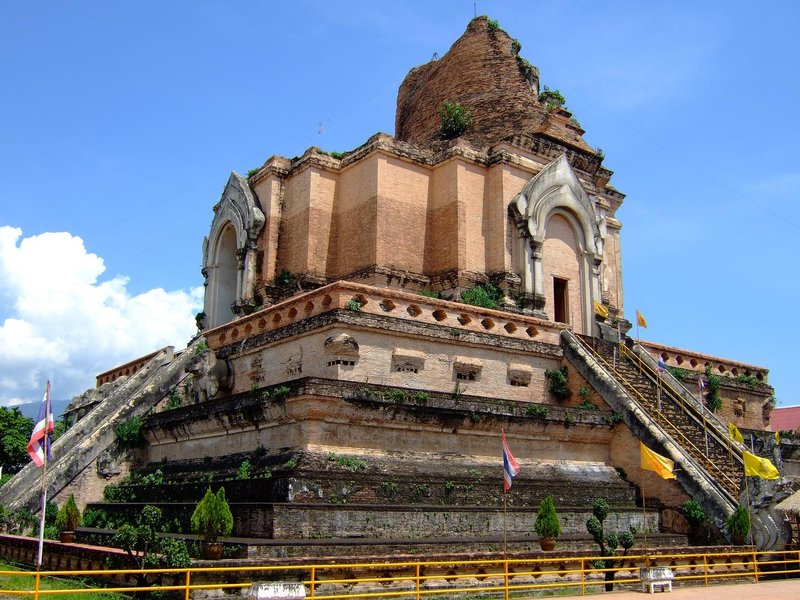 The remains of Wat Chedi Luang in Chiang Mai