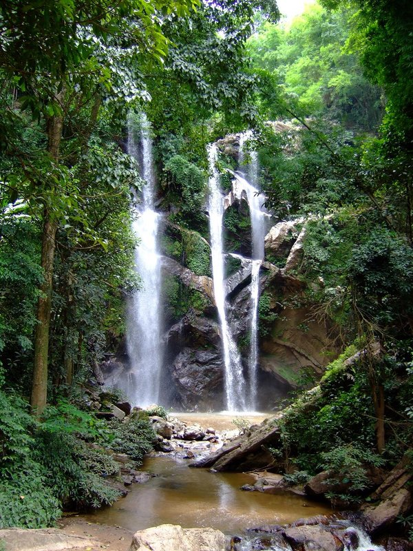 Nice jungle waterfall