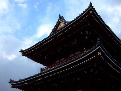 Rooftops at Sensoji Temples in Tokyo