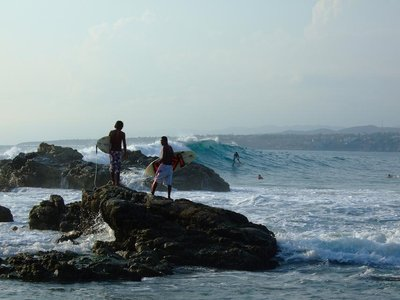 Surfers in Puerto Escondido