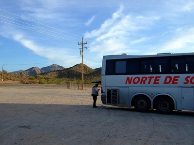 Bus in the desert
