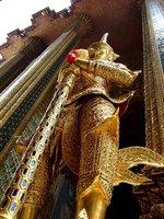 Golden guard near the Emerald Buddha