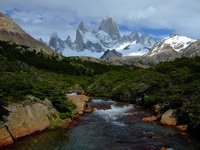 Postcard view of Fitz Roy