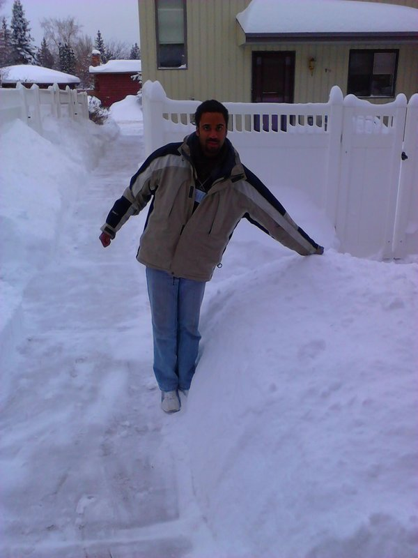 Nathan with snow
