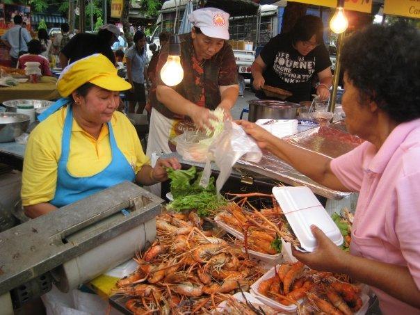 Large prawns at Jatachak Market, Bangkok