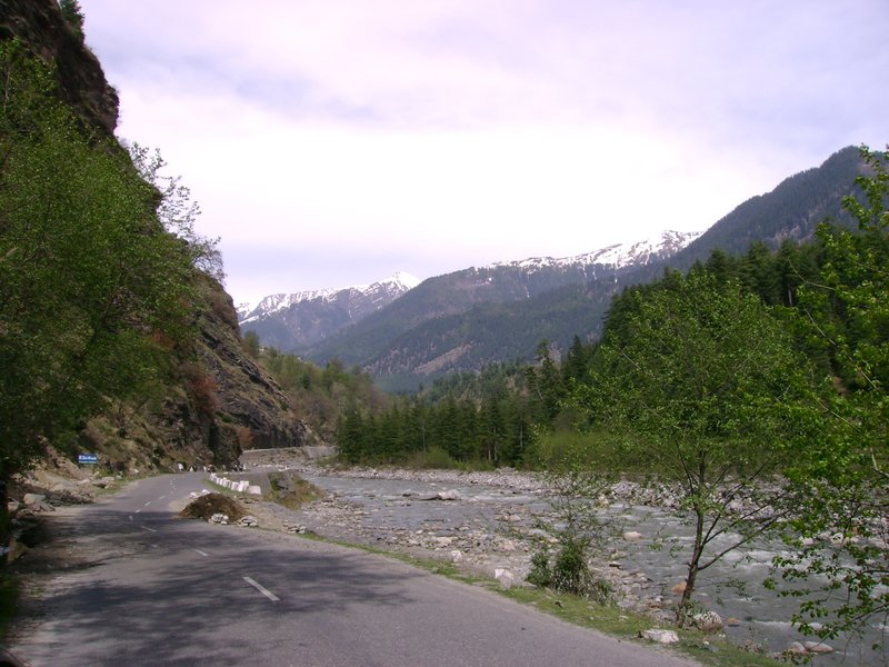River, Snow, Nature, Wildlife, Road, View all packed in one glimpse of Kullu Manali Road