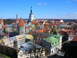 Estonia - Aerial view of city