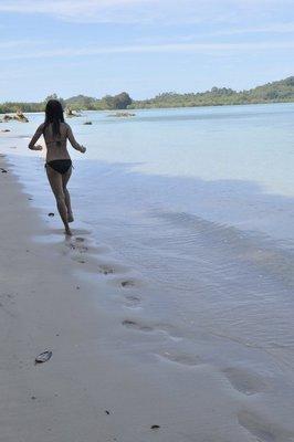 Jogging by the beach,Ao Khao Kwai,Koh Payam,Ranong,Thailand