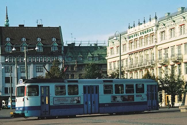 A tram in central Gothenburg