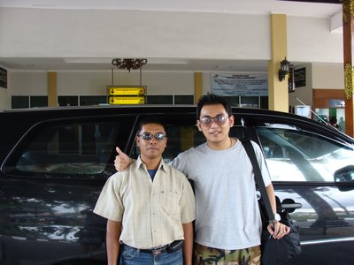 With Mr Adi the driver