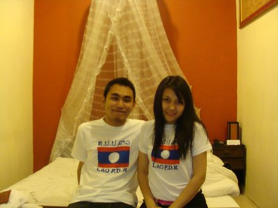Noon and I in Lao PDR shirt
