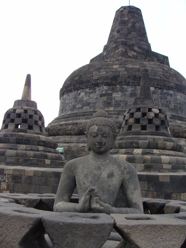 1000++ years old Buddha sitting on Borobudur