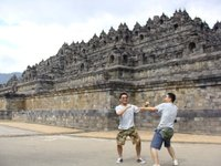 At Borobudur with Hayashi
