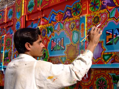Bus Painting in Pakistan