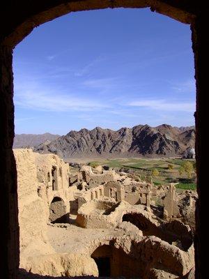 Kharanaq, Iran, view from mud city