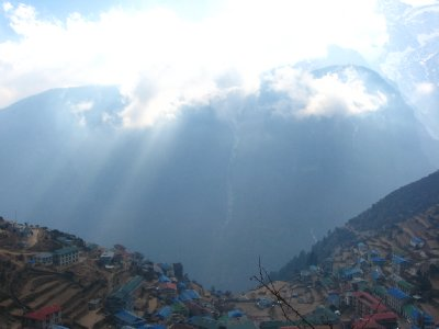 Arrival to Namche on Descent 2