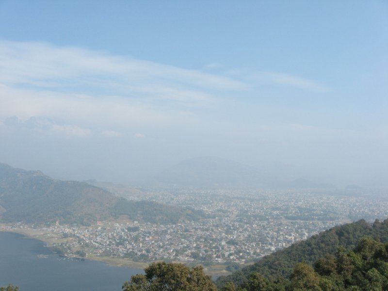 Pokhara surrounded by Mountains