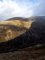 Shadowed ridge near Ben Nevis